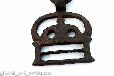Old Rare Iron 1930's Unique Shape Handcrafted Belt Buckle, Rich Patina.G41-105