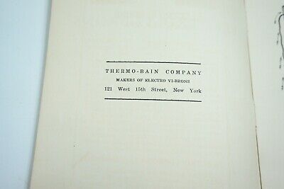 Antique 1890'S Thermo-Bain Co The Big Five Electro Vibration Quack Medicine Book 4