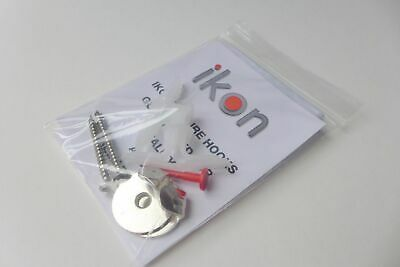 4 X Heavy Duty Screw In Picture Hooks 23kgs Rated with Screws & Plugs Freepost 3