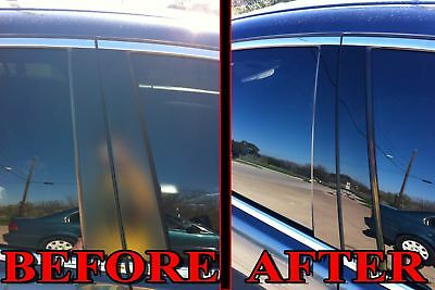 BLACK Pillar Posts for Toyota Matrix 09-13 8pc Set Cover Door Trim Window Piano