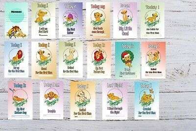 Baby Milestone Cards Lion King Pack of 33 Cards New Mum to be 3