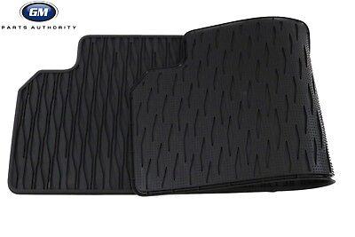 2017-2018 Chevrolet Bolt EV Rubber Floor Mats 42333257 Black Front /& Rear OEM GM