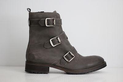 2aa8418e075 NEW WOLVERINE LIZZIE Waterproof Moto Leather Buckle Boot - Grey - 7US