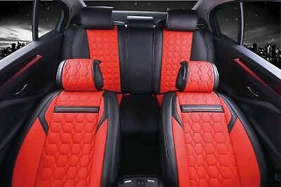 Car Seat Covers VAUXHALL INSIGNIA-Set completo in similpelle rosso//nero