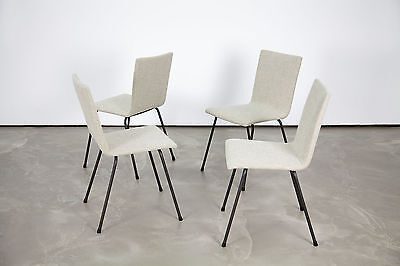 """4 Mid Century Modern Dining Chairs 50s 60s w/ Kvadrat """"Outback""""