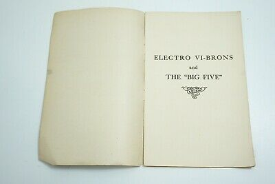 Antique 1890'S Thermo-Bain Co The Big Five Electro Vibration Quack Medicine Book 2