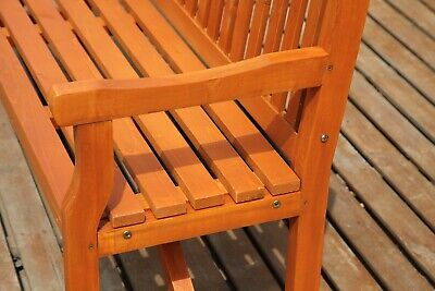 WestWood Garden Bench 3 Seater Chair Wood Patio Deck Patio Park Outdoor WGB02 3