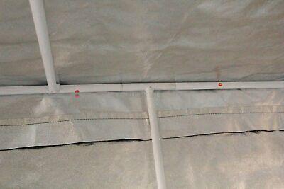 Portable Grow Tent – Thick Foil Silver Mylar Hydroponic Dark Room 2m x 2m x 2m 4