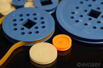 80+10 teiliges Zahnrad-Set Antriebsrädchen + Antriebsgummi Kunststoff Zahnräder 2