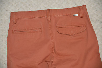 New Quiksilver Boys Straight Pants Trouser Chinos Burnt Sienna EQBNP03038 14 Yrs 7