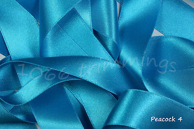 Double Satin Ribbon Berisfords Blue Shades 8 Widths Short Lengths or Full Reels 10