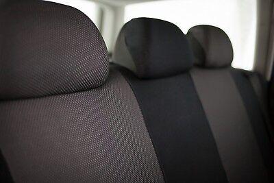Sitzbezüge Sitzbezug Schonbezüge für Mazda Demio Dunkelgrau Sportline Set