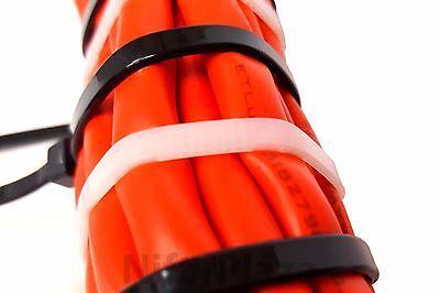 NiftyPlaza 14 Inch Cable Ties - Heavy Duty - 50 LBS 100 Pack Nylon Wrap Zip Ties 8