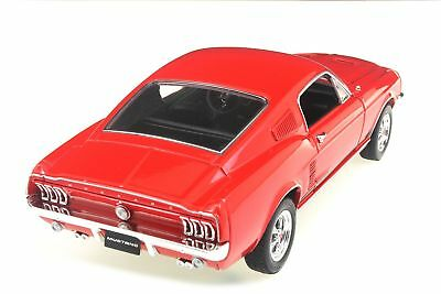 Rot Modell Ford Mustang 1967 Gt Fastback 1:24 Maßstab Welly Druckguss