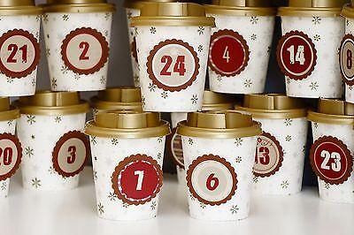 Diy Adventskalender Set Zum Selbstbefüllen Aus Coffee To Go Bechern