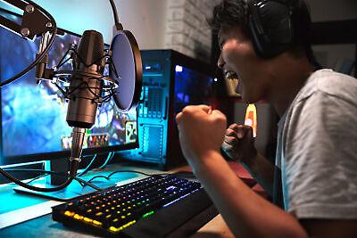LIAM & DAAN Profi Podcast Set Studiomikrofon Set Großmembran Kondensatormikrofon 8