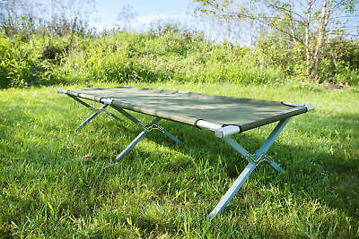 VIVO Green Camping Cot, Fold up Bed, Military Style Cot, Carrying Bag Included 3