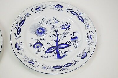 "House of Prill Porcelain - blue onion pattern - lot of 2 10 1/4"" dinner plates 2"