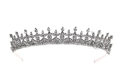 Floral Bridal Rhinestone Crystal Prom Wedding Crown Tiara 81063