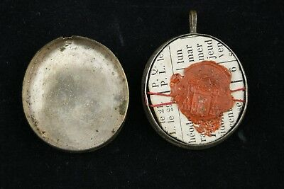 † 19Th St Martha + St Mary Magdalene Multi Reliquary 7 Relics 1St Class Italy † 8