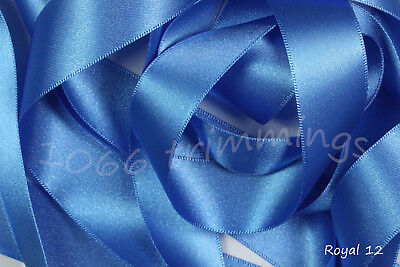 Double Satin Ribbon Berisfords Blue Shades 8 Widths Short Lengths or Full Reels 4
