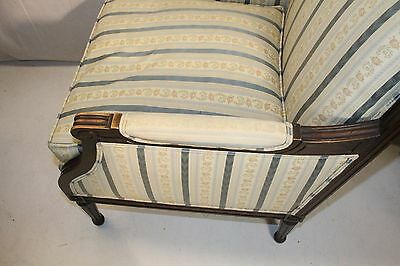 Elegant French Louis XV style Beech Wood Bergere Armchair With Down Cushion 7