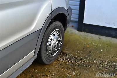 """To Fit 14+ Ford Transit MK8 Luton Body Minibus 16"""" Dual Wheel Trims Cover Sleeve 5"""