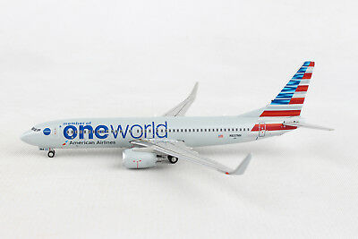 1:400 GJAAL1734 IN STOCK GEMINI JETS AMERICAN AIRLINES ONEWORLD  B737-800 W