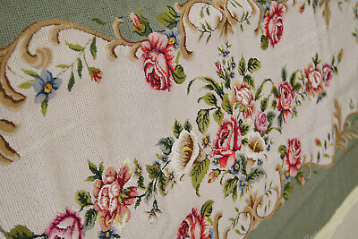 Light Olive Victorian Blooming Roses VTG Reproduction Chair Sofa Cover Sets 6