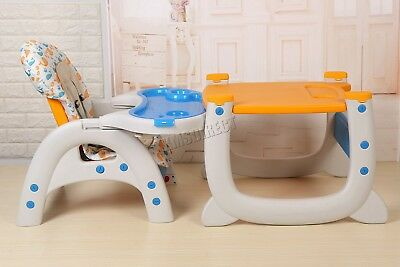 FoxHunter Baby Highchair Infant High Feeding Seat 3in1 Toddler Table Chair New 12