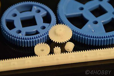 80+10 teiliges Zahnrad-Set Antriebsrädchen + Antriebsgummi Kunststoff Zahnräder 3