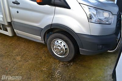 """To Fit 14+ Ford Transit MK8 Luton Body Minibus 16"""" Dual Wheel Trims Cover Sleeve 6"""
