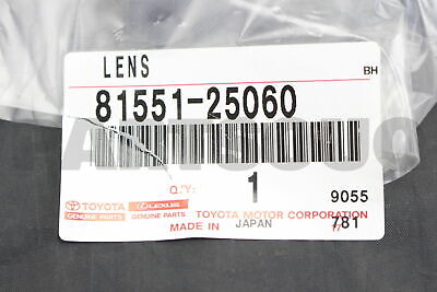 8155125060 Genuine Toyota LENS, REAR COMBINATION LAMP, RH 81551-25060