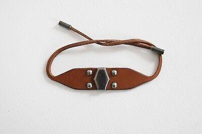 8dd81c14b0e ... Authentic SAINT LAURENT YSL STUDDED Glacier Leather Metal Tie Unisex  Bracelet 2