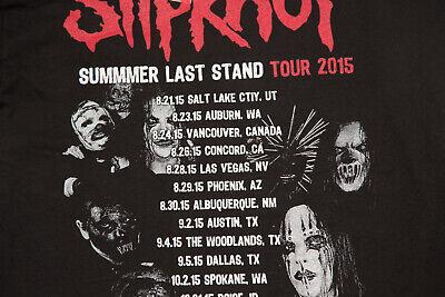 SLIPKNOT CONCERT TEE SHIRT Summer Last Stand 2015 Lamb of God Motionless Bullet 3