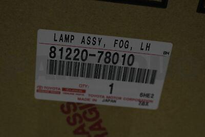 8122078010 Genuine Toyota LAMP ASSY FOG LH 81220-78010