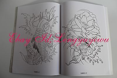 Office & School Supplies Koi Carp Fish Lotus Flower Tattoo Flash A4 Book With Line Drawing Outline