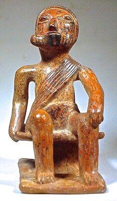 Pre-Columbian Coquero Figure, Nariño, Colombia Coa