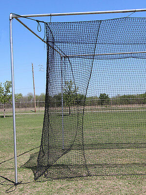 Batting Cage Net 10' x 12' x 60' #24 (42PLY) with Door & FRAME Baseball Softball 4