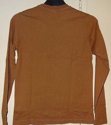 Diesel Brown Boys Long Sleeve Graphic Shirt Size XS S M L XL XXL Brand New NWT