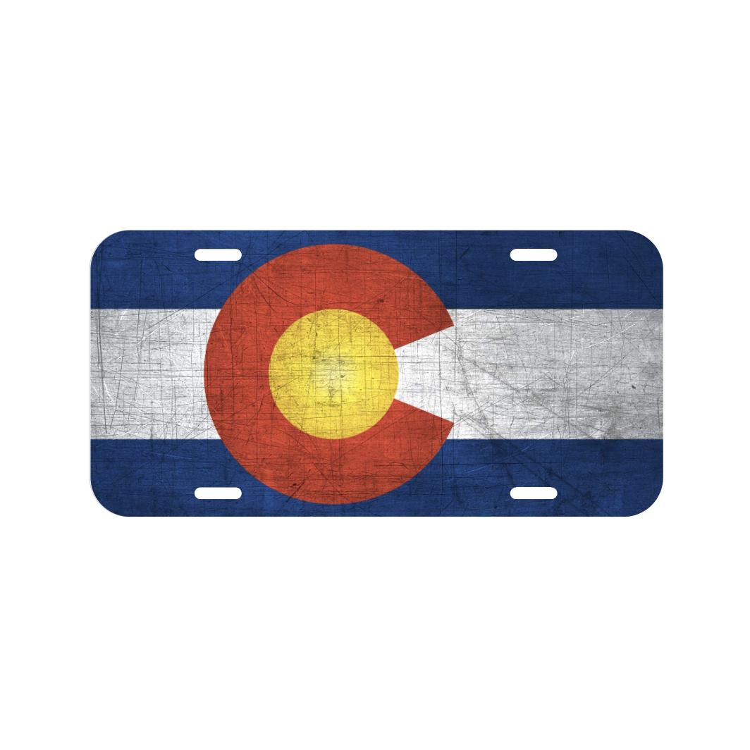 Colorado State Flag License Plate Front Auto Tag Plate Denver Colorado NEW Nice!