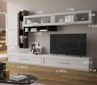PARETE SOGGIORNO CLASSIC Porta Tv Libreria Vetrine In ...
