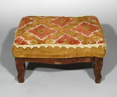 Antique French Country Footstool Louis XV Style 3