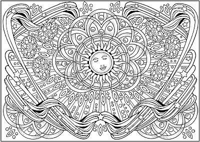 Adult Colouring Books Set of 3 with 36 Unique Relaxing Illustrations&Mandalas 8