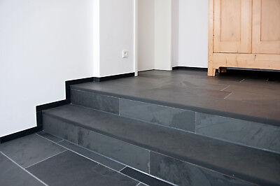Muster Schiefer Negra anthrazit-schwarz Bodenplatten Schieferfliesen