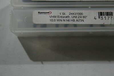 Format Solid Carbide Chamfer Countersink  - 10mm diameter, 4 Flute, 60 deg AiTiN 4