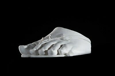 Marble Sculpture of the Foot of Colossus. Art, Gift, Ornament. 2
