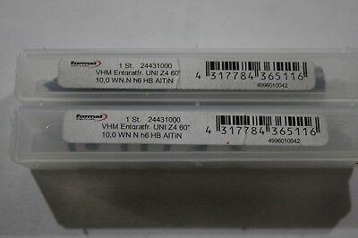 Format Solid Carbide Chamfer Countersink  - 10mm diameter, 4 Flute, 60 deg AiTiN 5