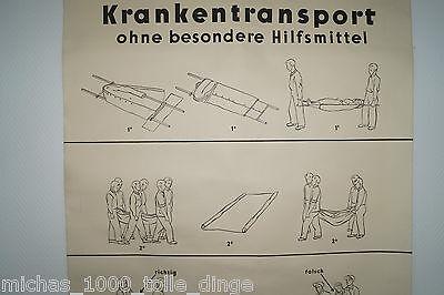 alte Rollkarte Rolltafel Lehrtafel Krankentransport ohne Hilfsmittel Nr. 9539