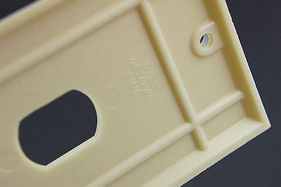 Vintage Deco Uniline Ivory Despard Switch Cover Plate NOS single Gang Vertical 4